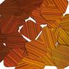 "Square Diamond Sequin 1.5"" Orange City Lights Metallic Reflective"
