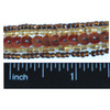 Beaded Trim Bronze Sequins Brown Gold Glass Seed Beads Inch Size Chart