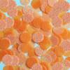Round sequins 15mm Light Orange Neon Fluorescent Sparkle Glitter Texture