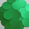 Round sequins 40mm Green Matte Satin Metallic