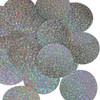"""Round sequins 2"""" Silver Hologram Glitter Sparkle Metallic"""