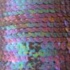 6mm Flat Round Sequin Trim Amethyst Purple Crystal Rainbow Iris Iridescent