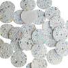 Round Disc White Glitter Fabric Super Sparkle