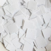 25mm Square Sequins White Opaque