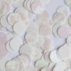 Round Sequin Paillettes 12mm Top Hole White Iris Rainbow Embosssed Swirl Texture