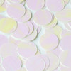 Round  Flat Sequin 18mm Top Hole White Pink Rainbow Iris Fluorescent Shiny Opaque Back Reversible