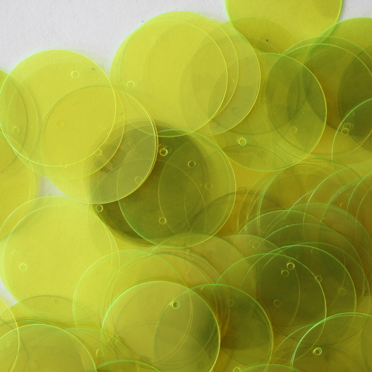 6mm Flat SEQUIN PAILLETTE ~ GREEN Neon Fluorescent OPAQUE ~ Made in USA