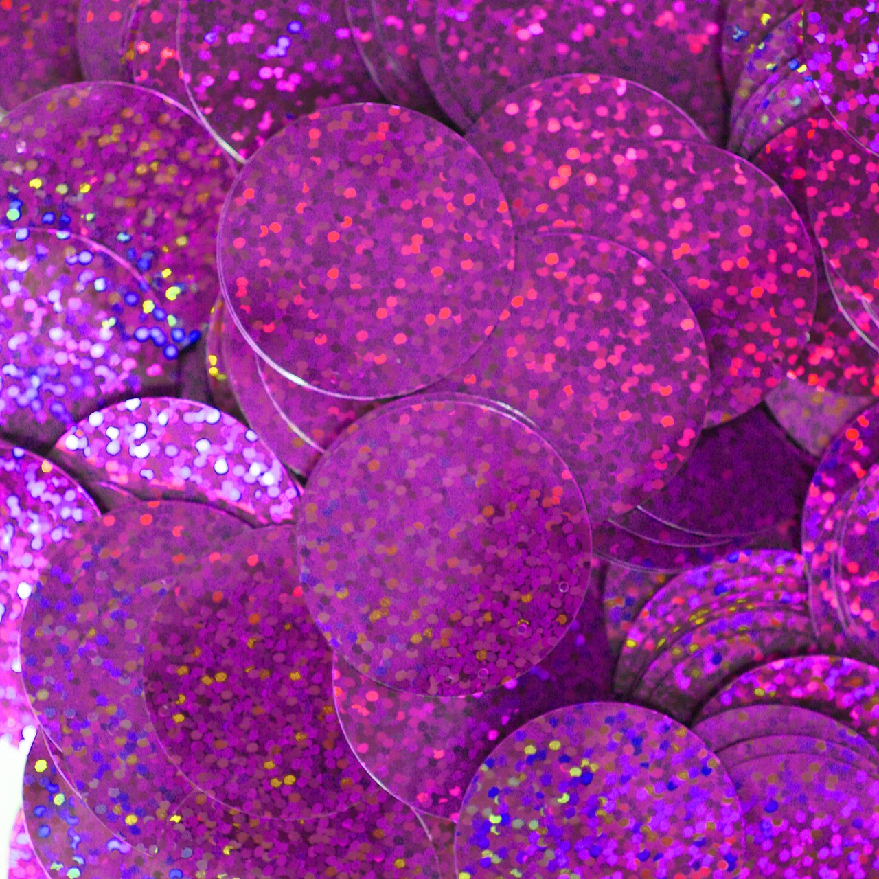 30mm ROUND SEQUIN PAILLETTES ~  BLUE VIOLET HOLOGRAM Metallic ~  Made in USA