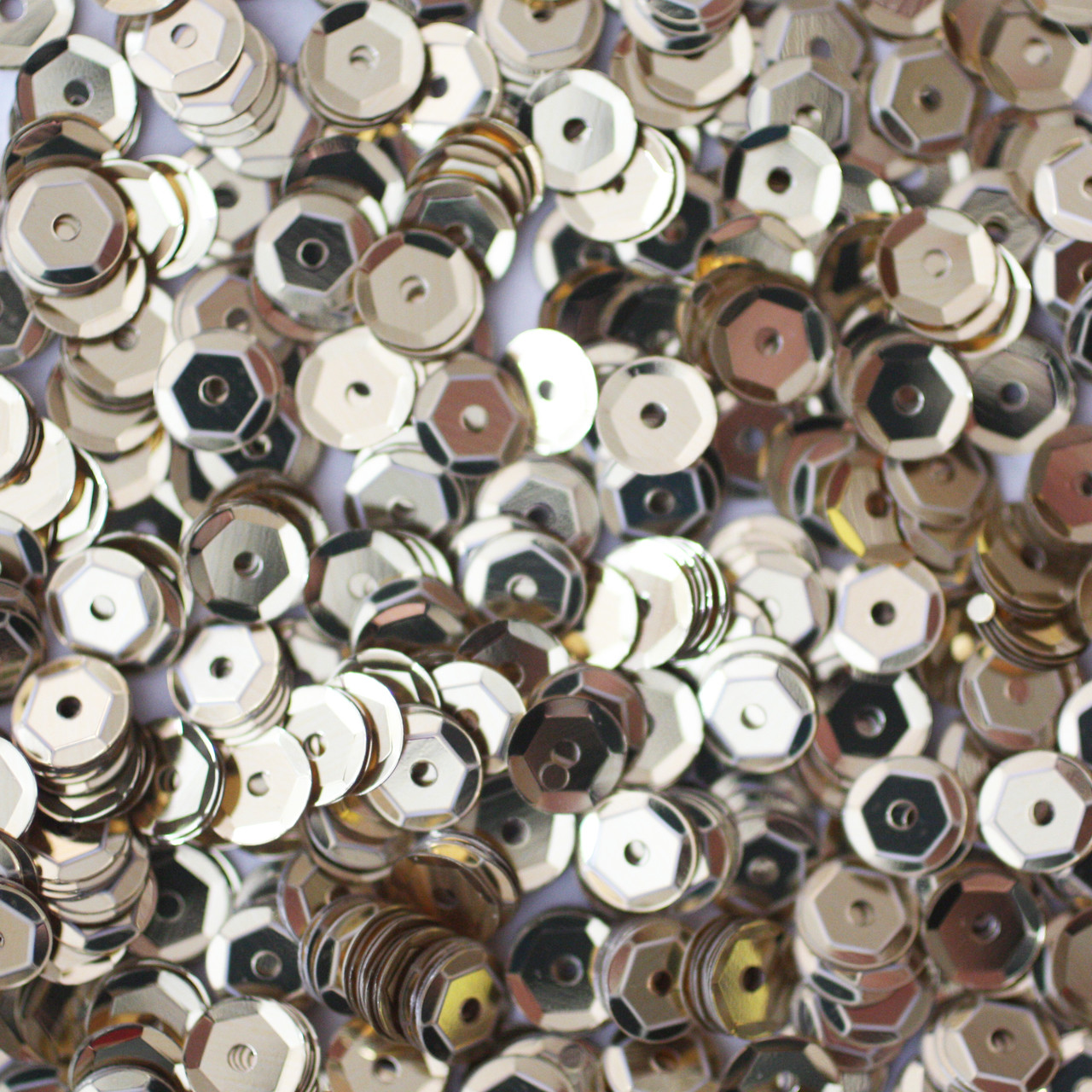 5mm Cup Sequins Silver Metallic