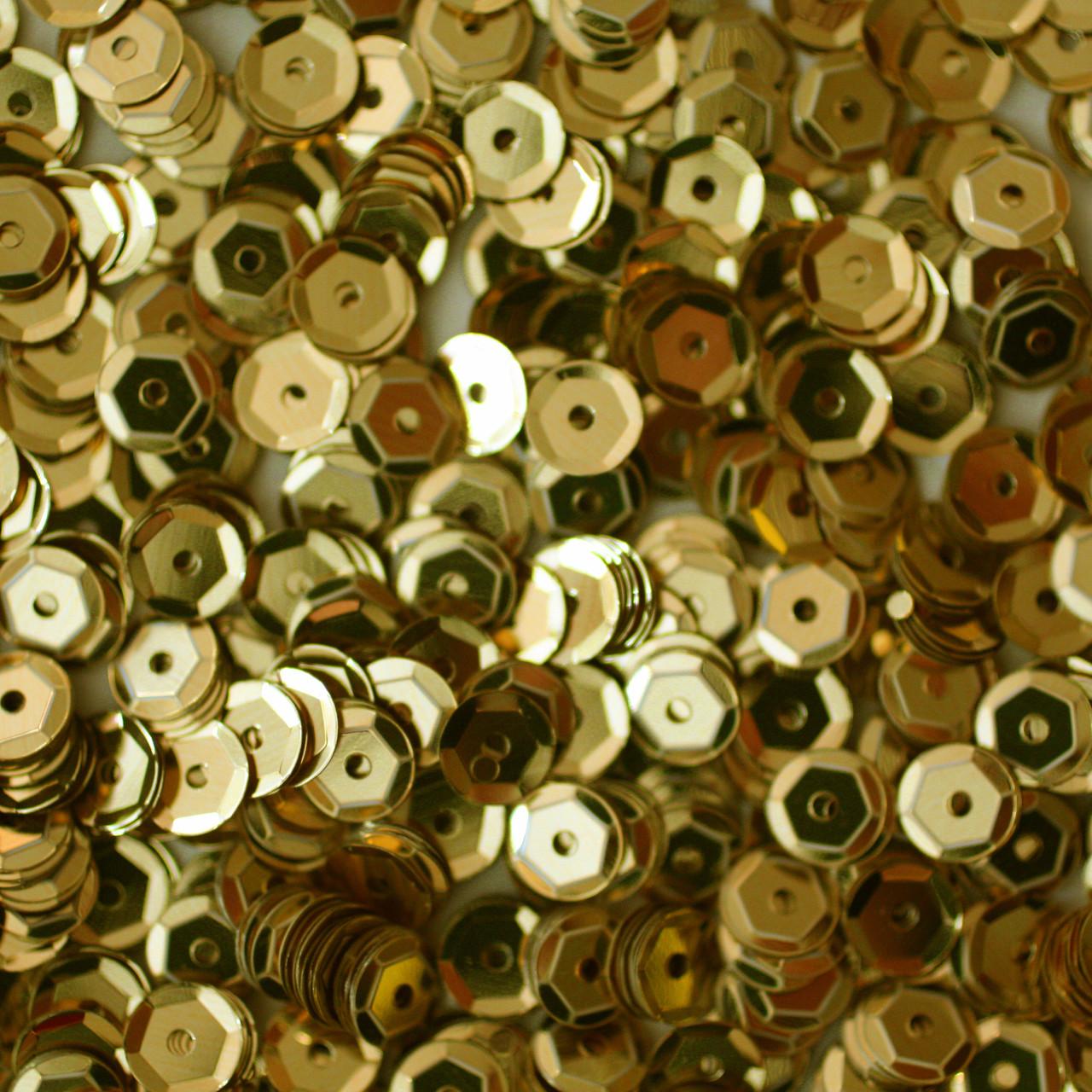 5mm Cup Sequins Gold Metallic