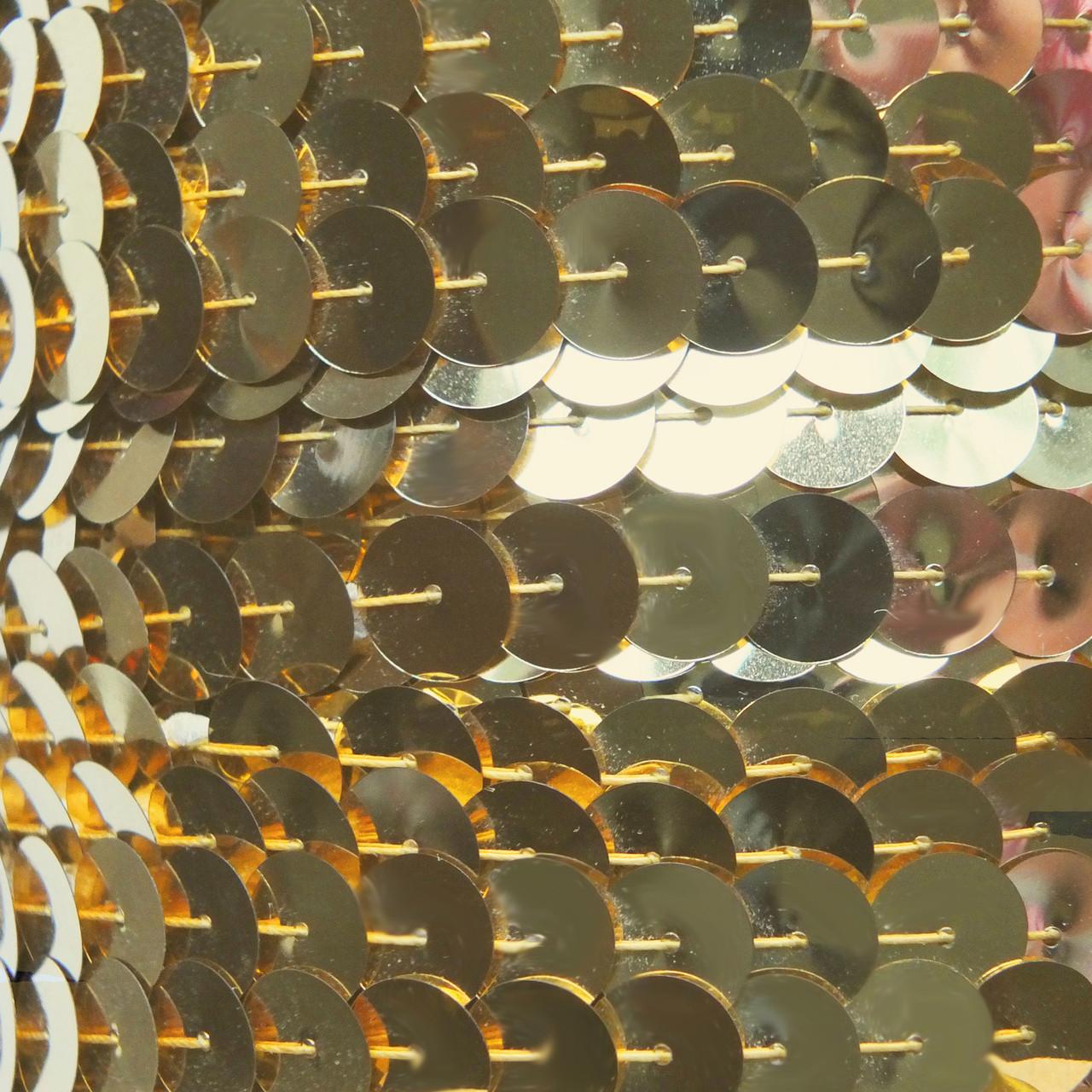 10mm Flat Sequins Bronze Metallic