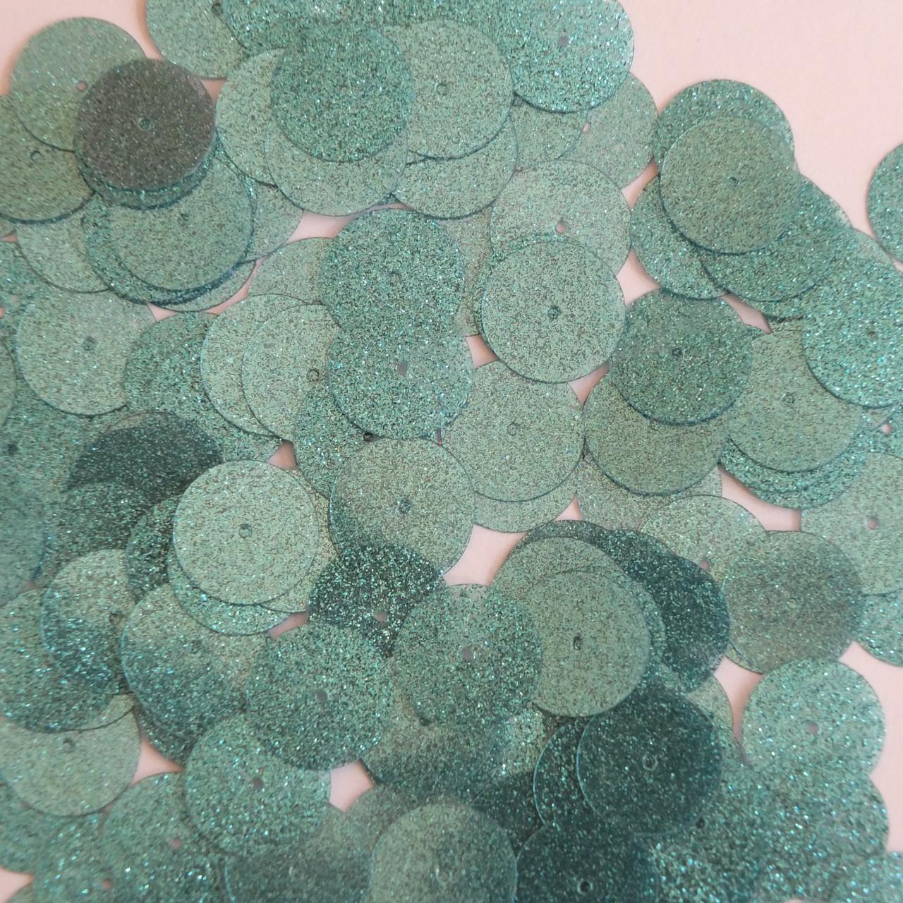 Round Sequin 15mm Royal Blue Metallic Sparkle Glitter Texture Couture Paillettes