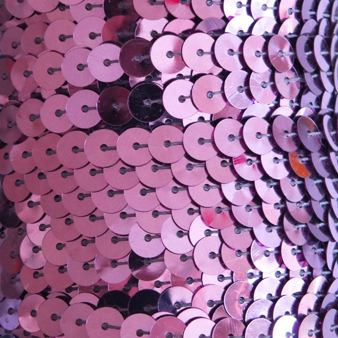 6mm Flat Round Sequin Trim Lavender Pink Shiny Metallic