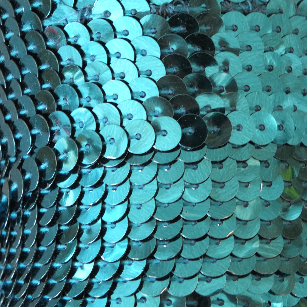 6mm Flat Round Sequin Trim Peacock Blue Green Shiny Metallic