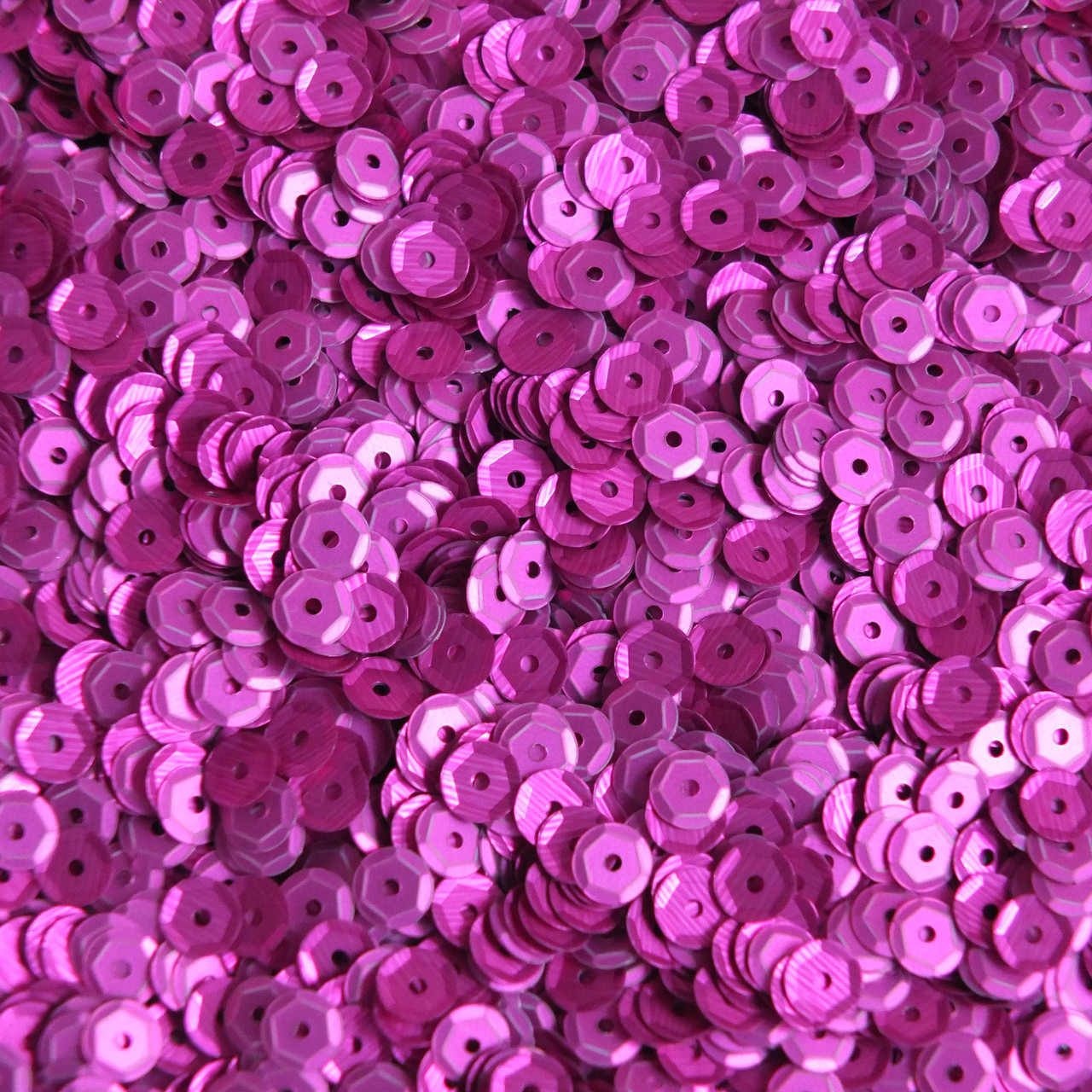 Made in USA 5mm Cup Round Sequins Fuchsia Pink Matte Silk Frost