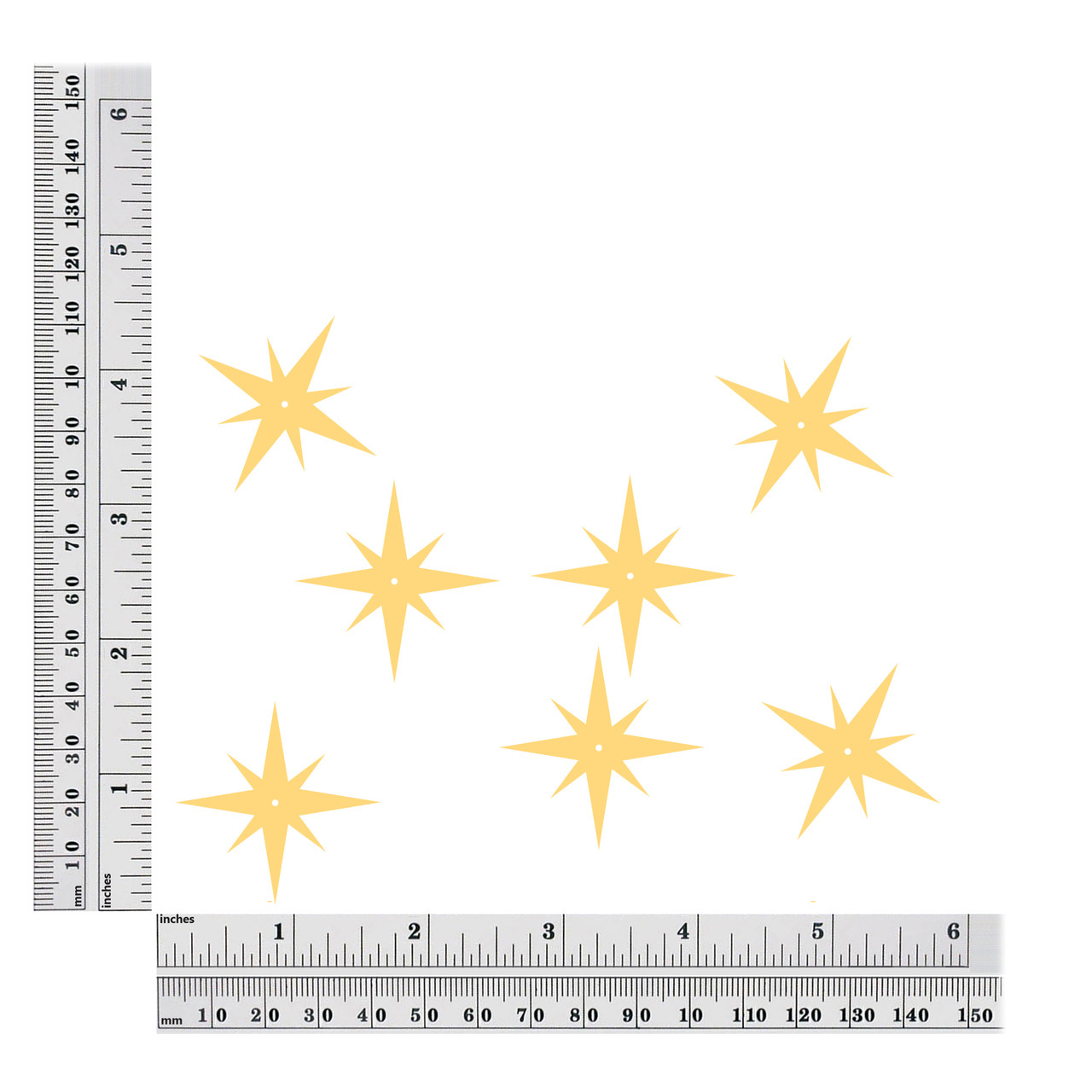 North Star sequins size chart