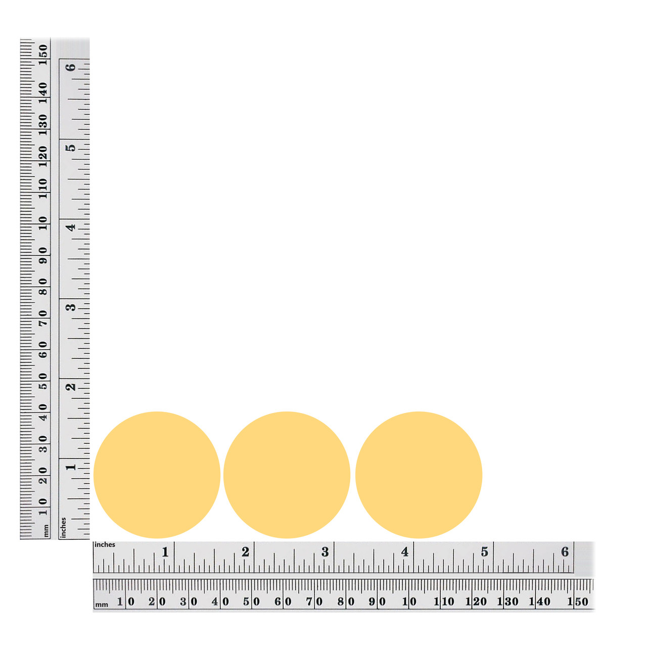 Round sequins size chart