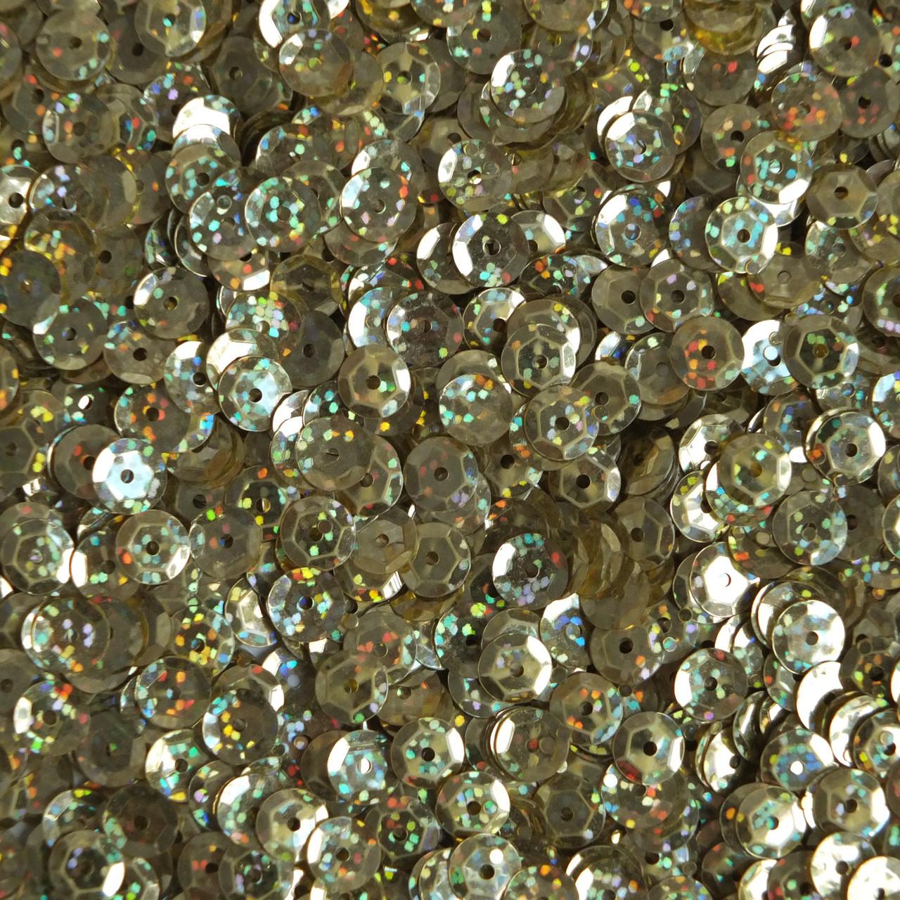 "Sequin Round 1/"" 24mm Gold Hologram Glitter Sparkle Metallic Made in USA"