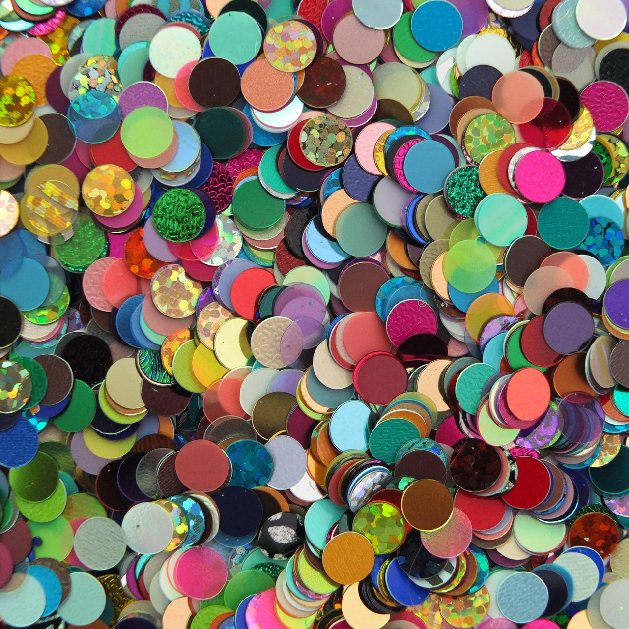 No hole Sequins 6mm Round Mix Made in USA