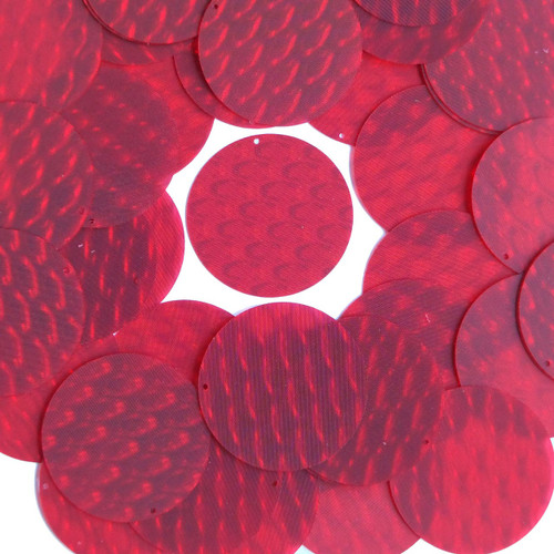 """1.5"""" Sequins Red 3D Three Dimensional Reflector"""