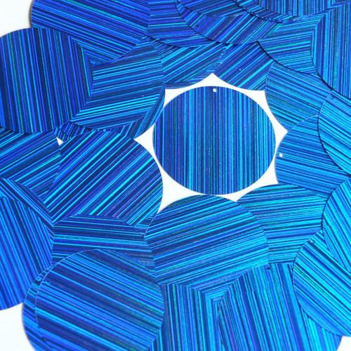 "1.5"" Sequins Royal Blue City Lights Metallic Reflective"