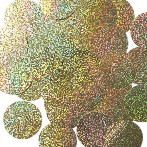 "1.5"" Sequins Gold Hologram Glitter Sparkle Metallic"
