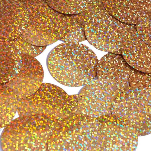 "1.5"" Sequins Peach Glitter Hologram Glitter Sparkle Metallic"
