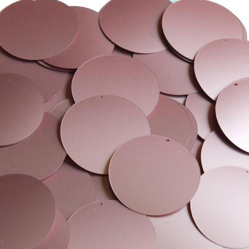 """1.5"""" Sequins Pink Matte Silk Frost"""