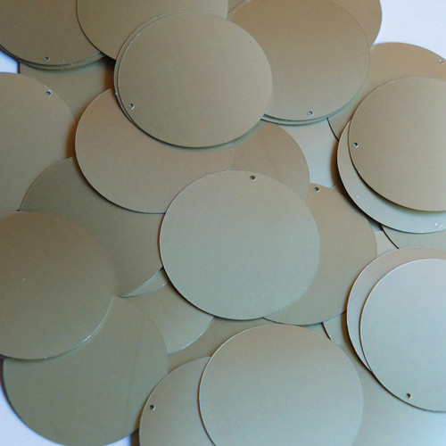 "1.5"" Sequins White Gold Matte Silk Frost Matte Silk Frost"