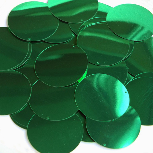 "1.5"" Sequins Green Metallic"