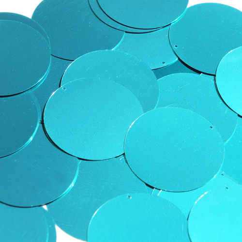 "1.5"" Sequins Teal Blue Green Metallic"