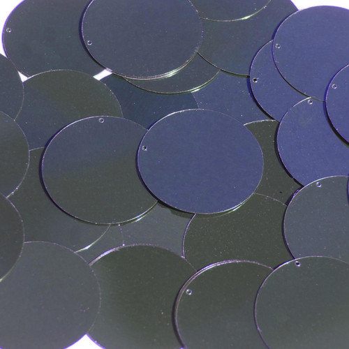 "1.5"" Sequins Navy Blue Metallic"