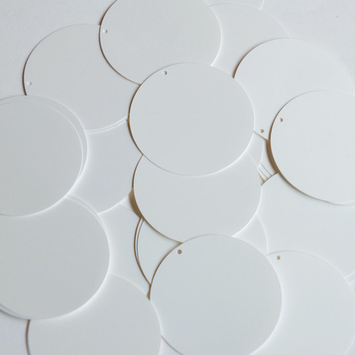 "1.5"" Sequins Pearly White Opaque"