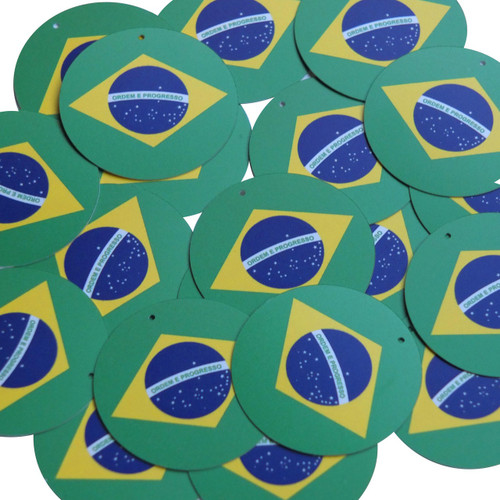 "1.5"" Sequins Brazilian Flag Brazil Multicolor Opaque"