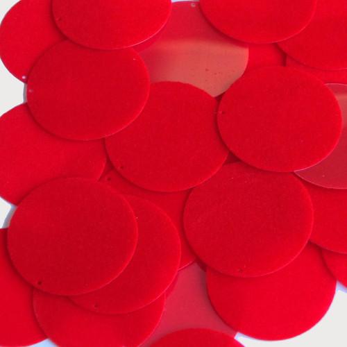"""1.5"""" Sequins Red Velvet Velour Flocked Fuzzy"""
