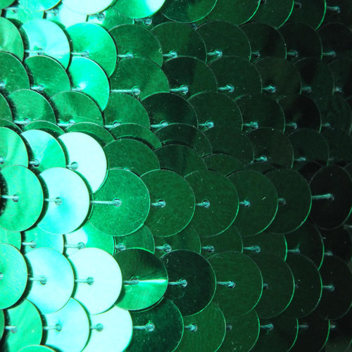 Sequin Trim 10mm Green Metallic