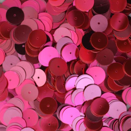 10mm Sequins Hot Pink Fluorescent Metallic