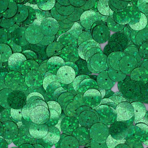 10mm Sequins Green Hologram Glitter Sparkle Metallic