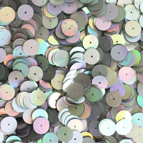 10mm Sequins Silver Lazersheen