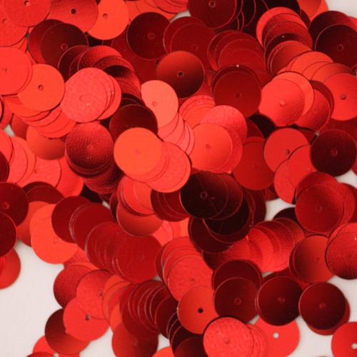 10mm Sequins Red Metallic