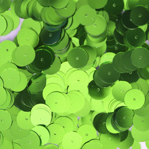 10mm Sequins Lime Green Metallic