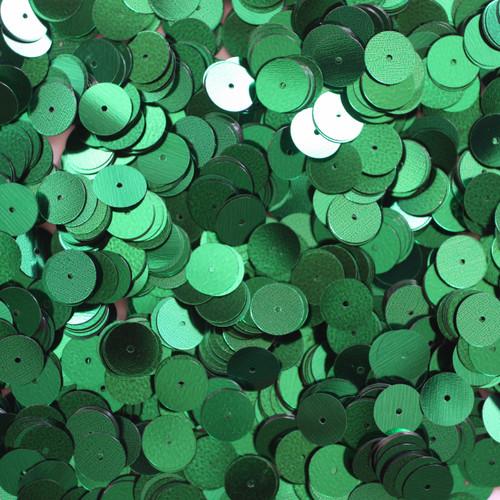 10mm Sequins Emerald Green Metallic