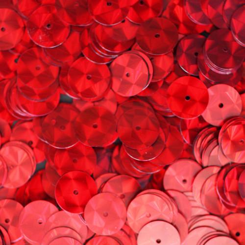 10mm Sequins Red Prism Metallic