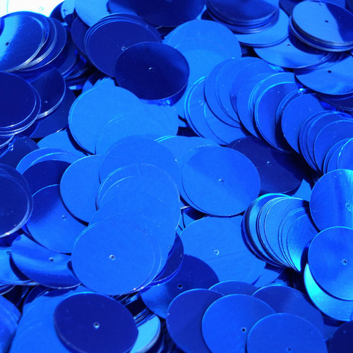 20mm Sequins Center Hole Royal Blue Metallic