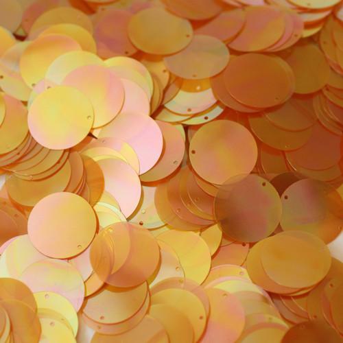20mm Sequins Apricot Peach Orange Crystal Rainbow Iris Iridescent