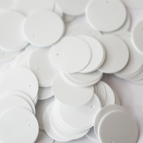 20mm Sequins White Opaque