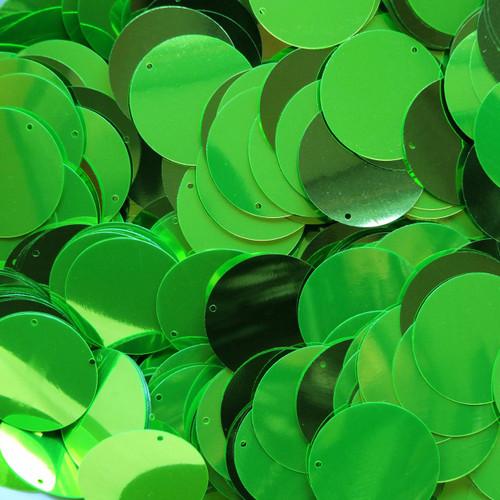 "1"" Sequins Lime Green Metallic"