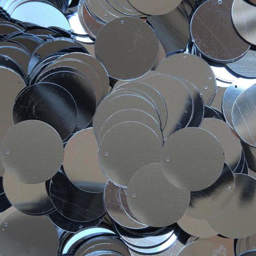 "1"" Sequins Hematite Shiny Gray Metallic"