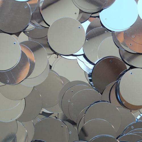 "1"" Sequins Silver Metallic"
