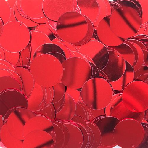 """1"""" Sequins Red Metallic"""